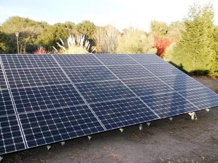 Ground mount array with LG solar panel modules