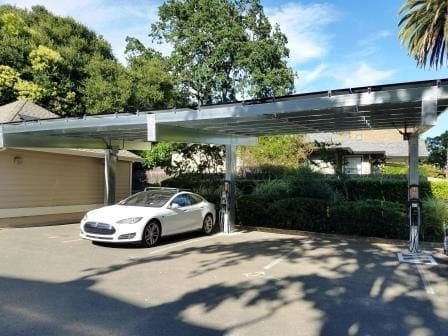 Solar carport- Free standing solar shade structure